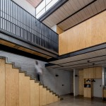 Delfino Lozano's RR House features pine joinery and an under-stair larder