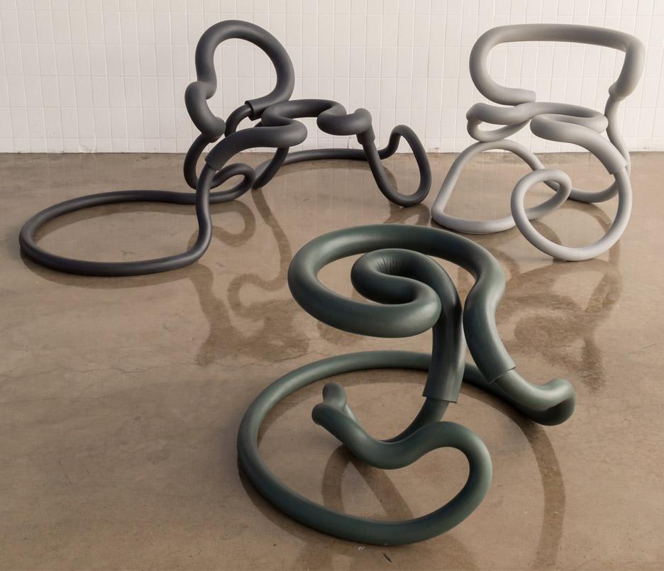 Railing Chairs by Aranda Lasch