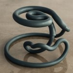 Aranda\Lasch unveils loopy Railing chairs made of metal pipes