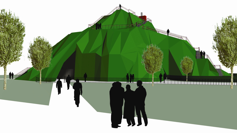 Proposed Serpentine Gallery Pavilion 2004 by MVRDV
