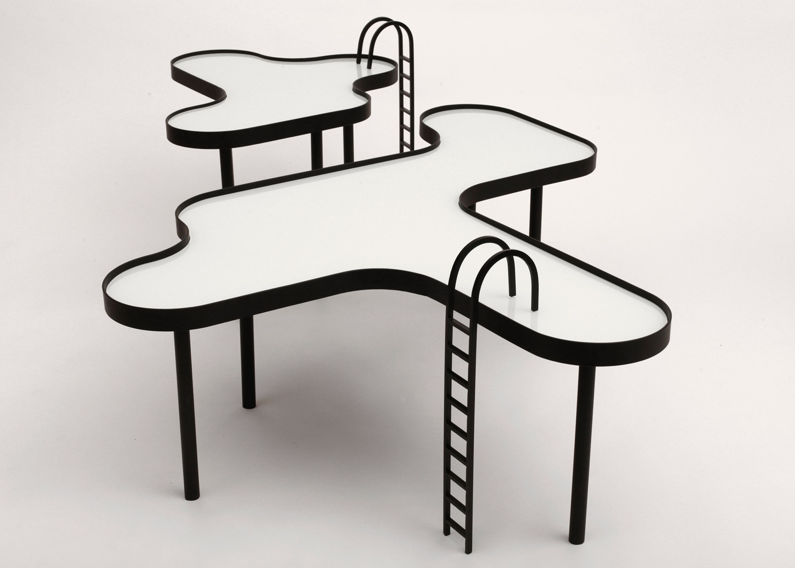 Swimming Pool Shaped Tables By Rain Include Removable Ladders