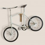David Roman Lieshout designs semi-foldable bicycle for small apartments