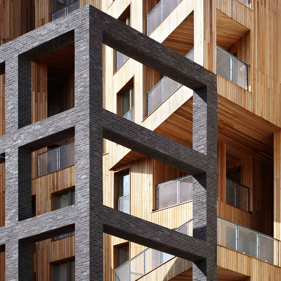 The Cube apartment block by Hawkins\Brown