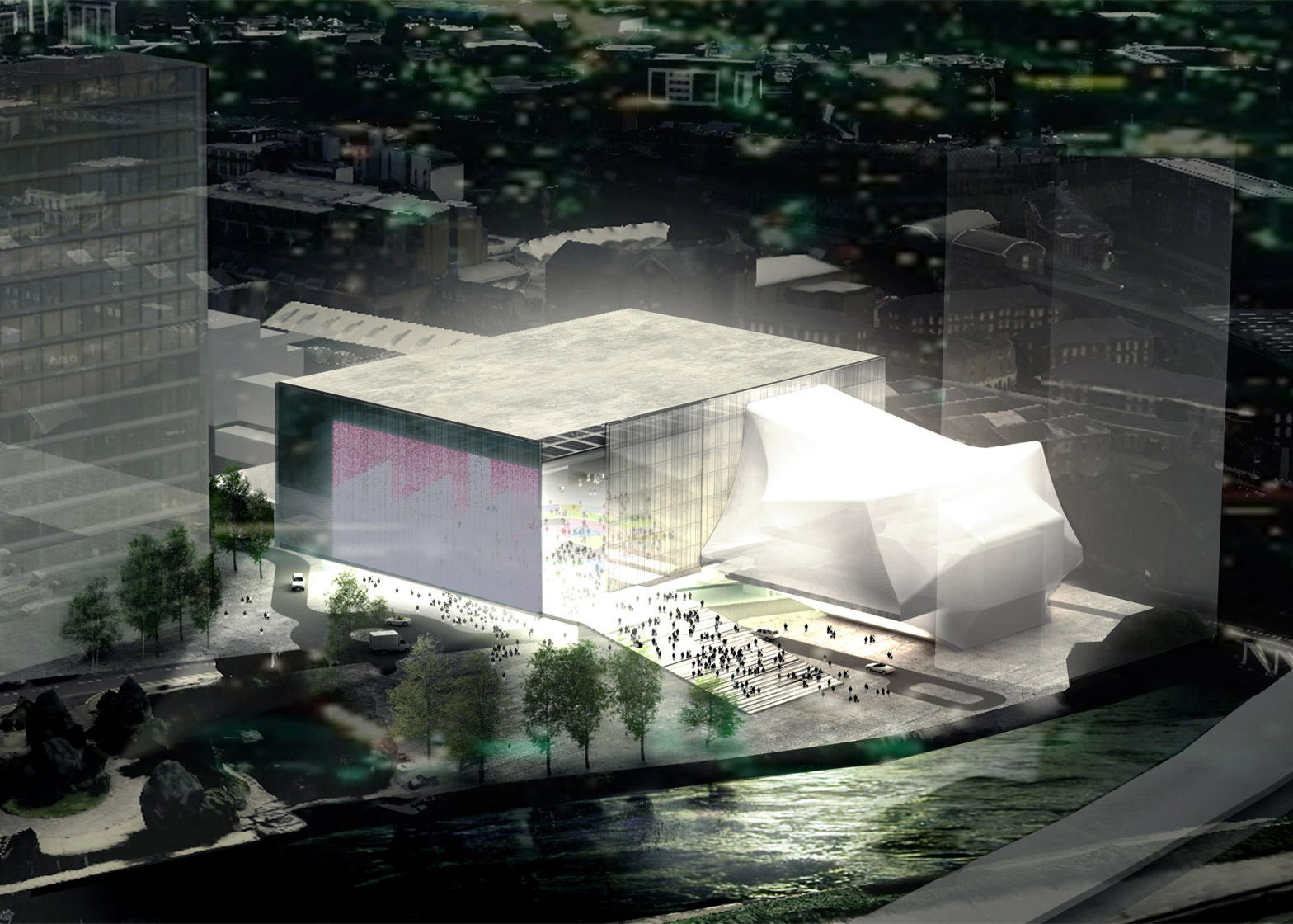oma wins competition to design huge manchester arts venue