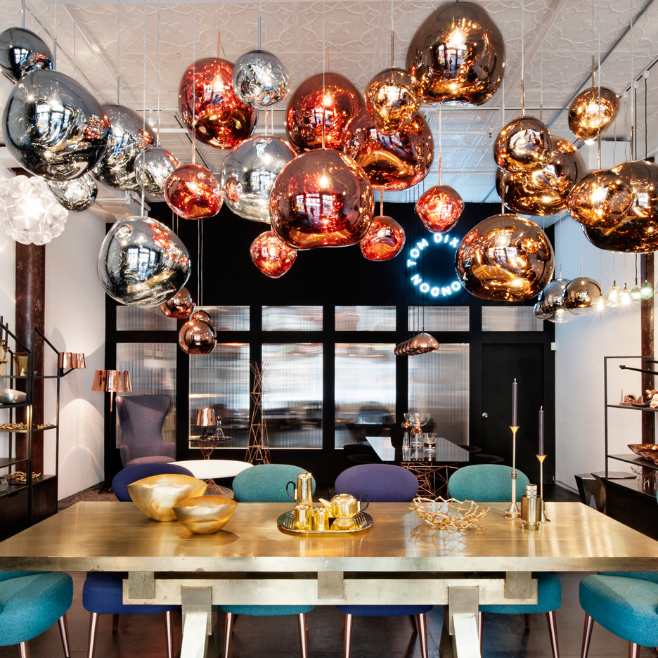 Tom Dixon's Manhattan showroom is his first outside London