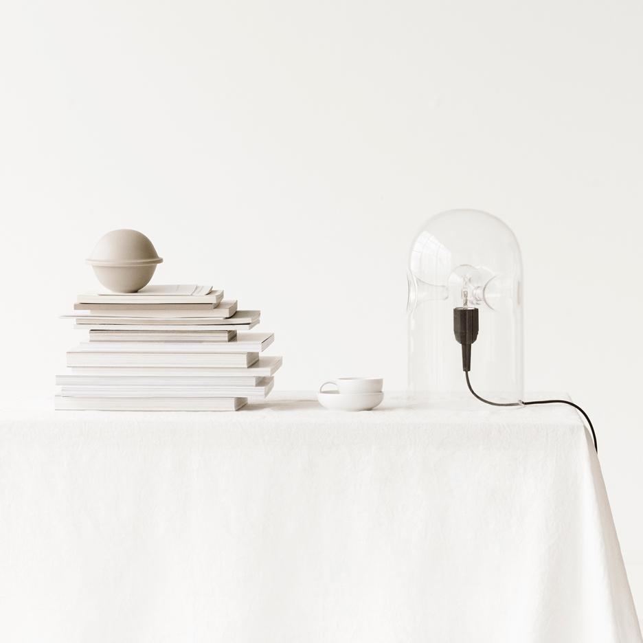 Lyngby Porcelain reissues Gijs Bakker's glass Tripod lamp