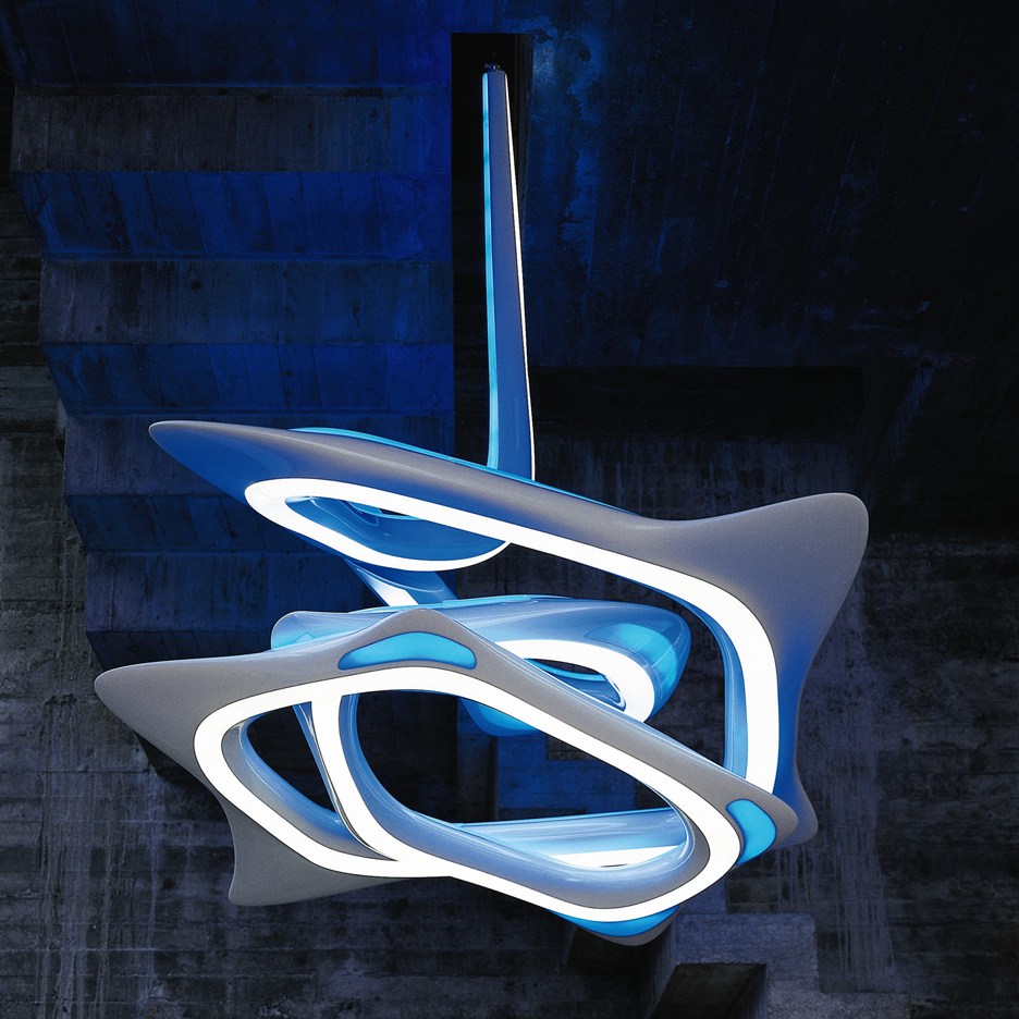 VorteXX hanging light by architects Zaha Hadid and Patrick Schumacher was the auction's top lighting sale