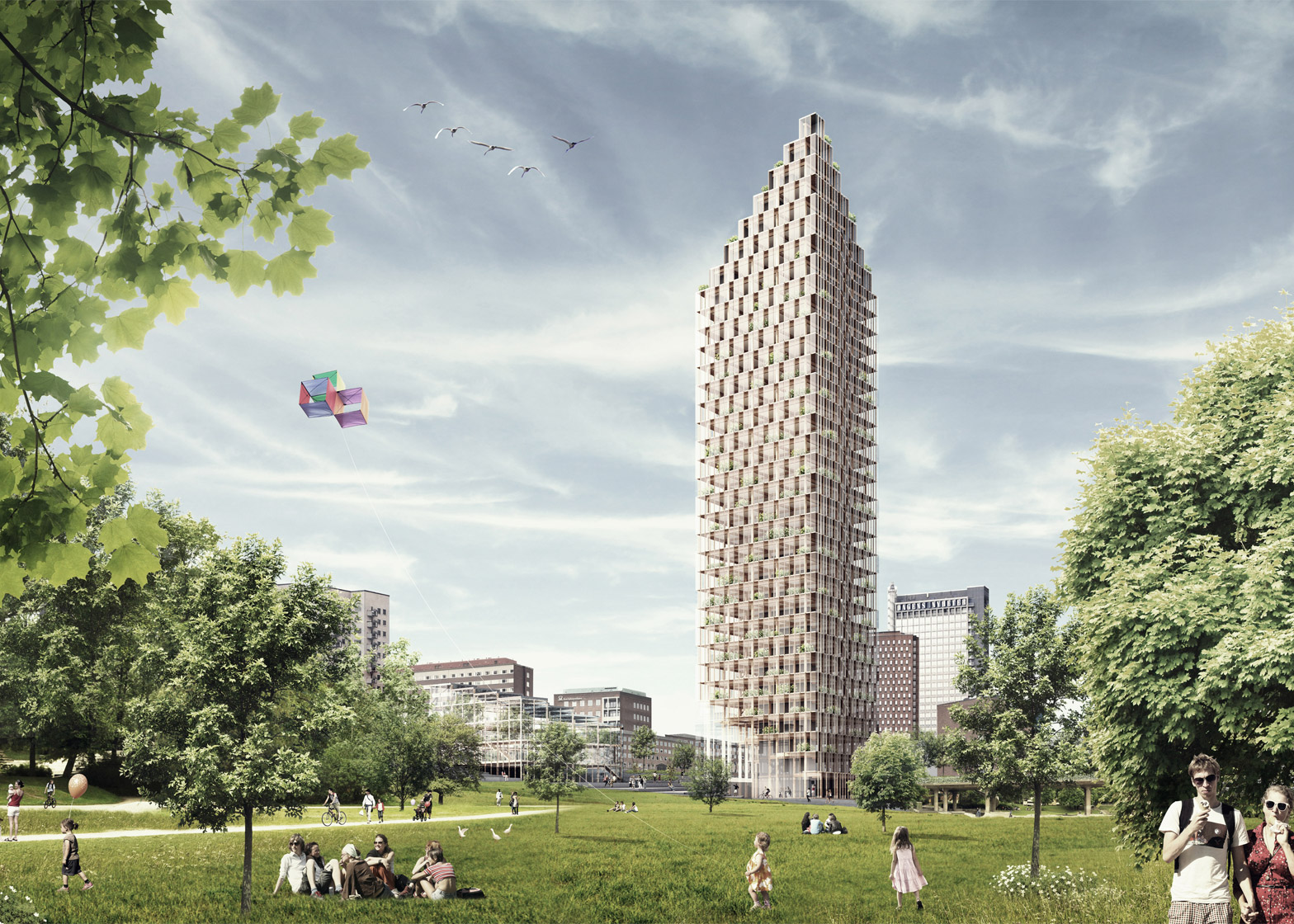 Wooden skyscraper by CF Møller