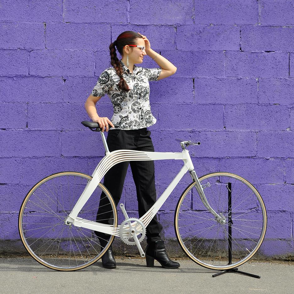 Wooden composite bike by AERO