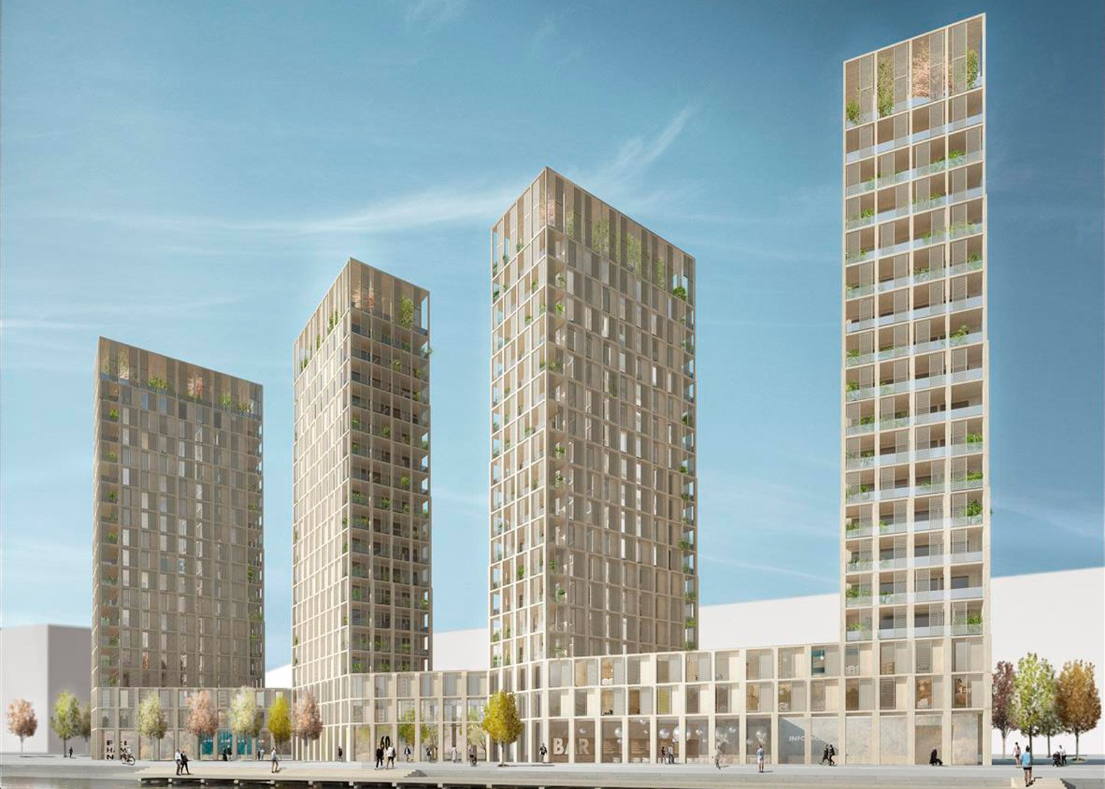 Tham & Videgård Arkitekter's Wooden Highrise apartments for Stockholm