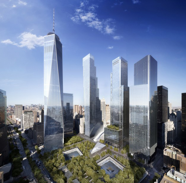 World Trade Center master plan by Daniel Libeskind