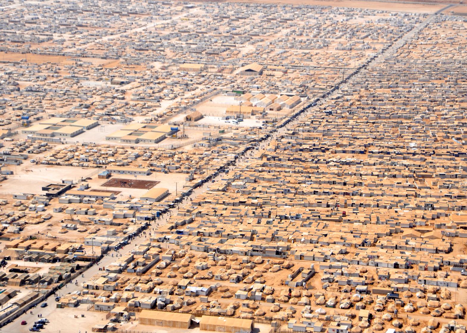 The Zaatari refugee camp in Jordan