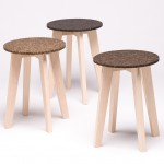 Carolin Pertsch's stools feature seats made from washed-up seagrass