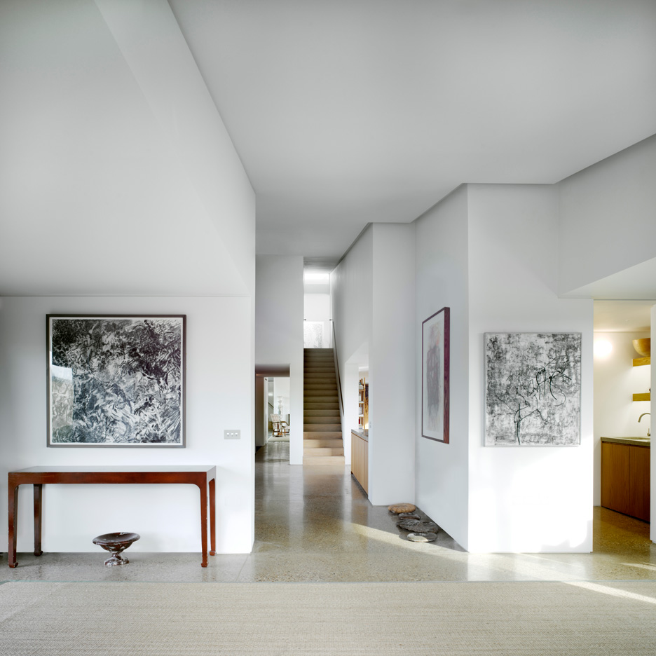 Rooms are loosely divided up inside Flint House by Skene Catling de la Peña