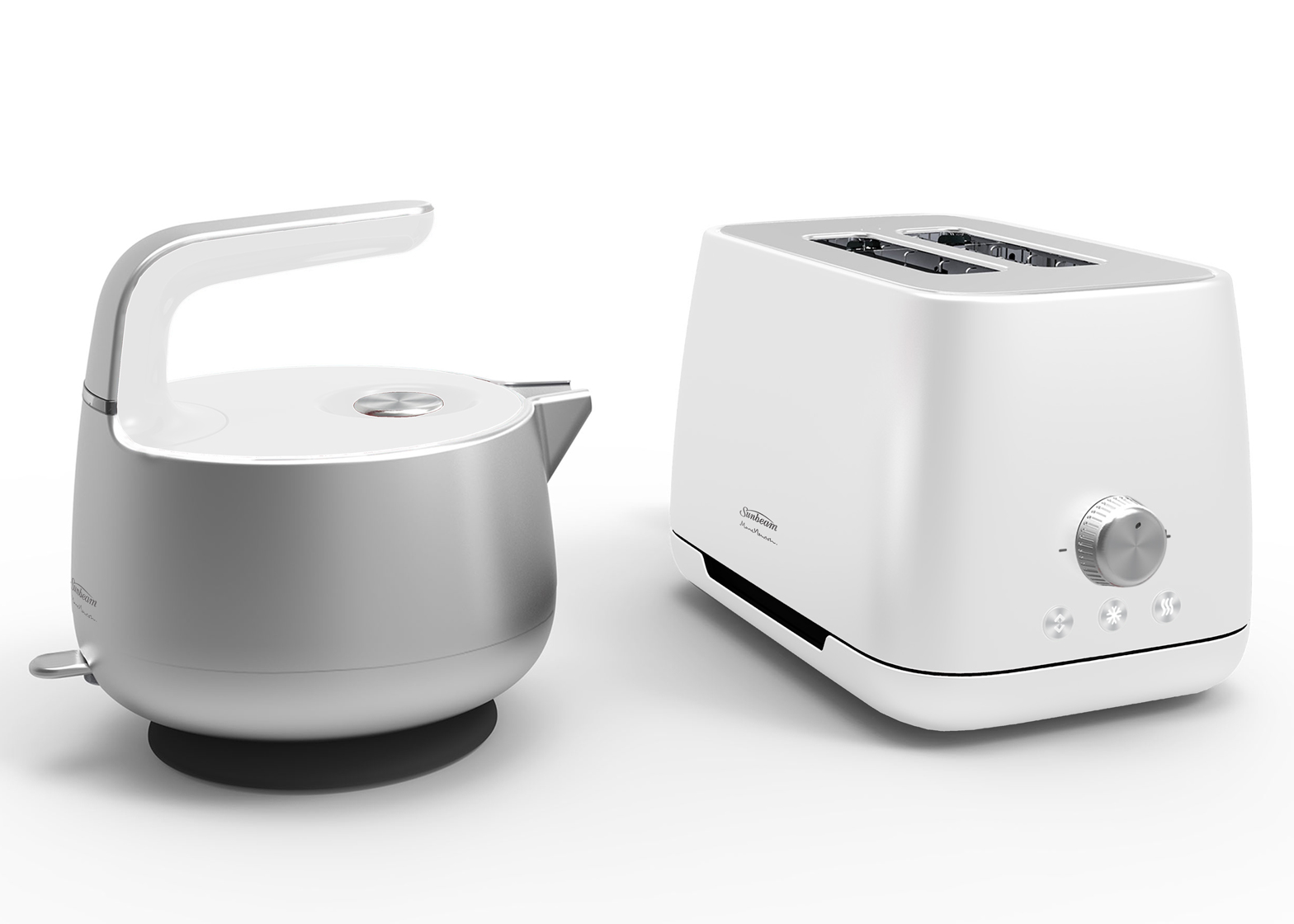 Colourful Kitchen Appliances Marc Newson Designs Matching Kettle And Toaster For Sunbeam