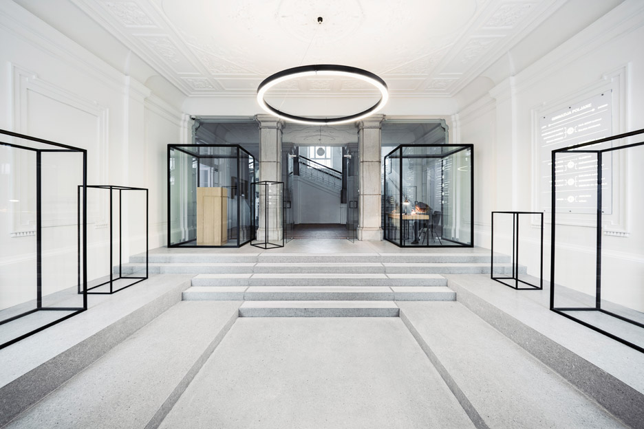 Renovated entrance hall in Ljubljana by Svet Vmes Architects