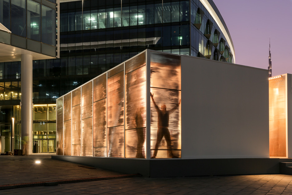 Abwab pavilion at Dubai Design Week 2015