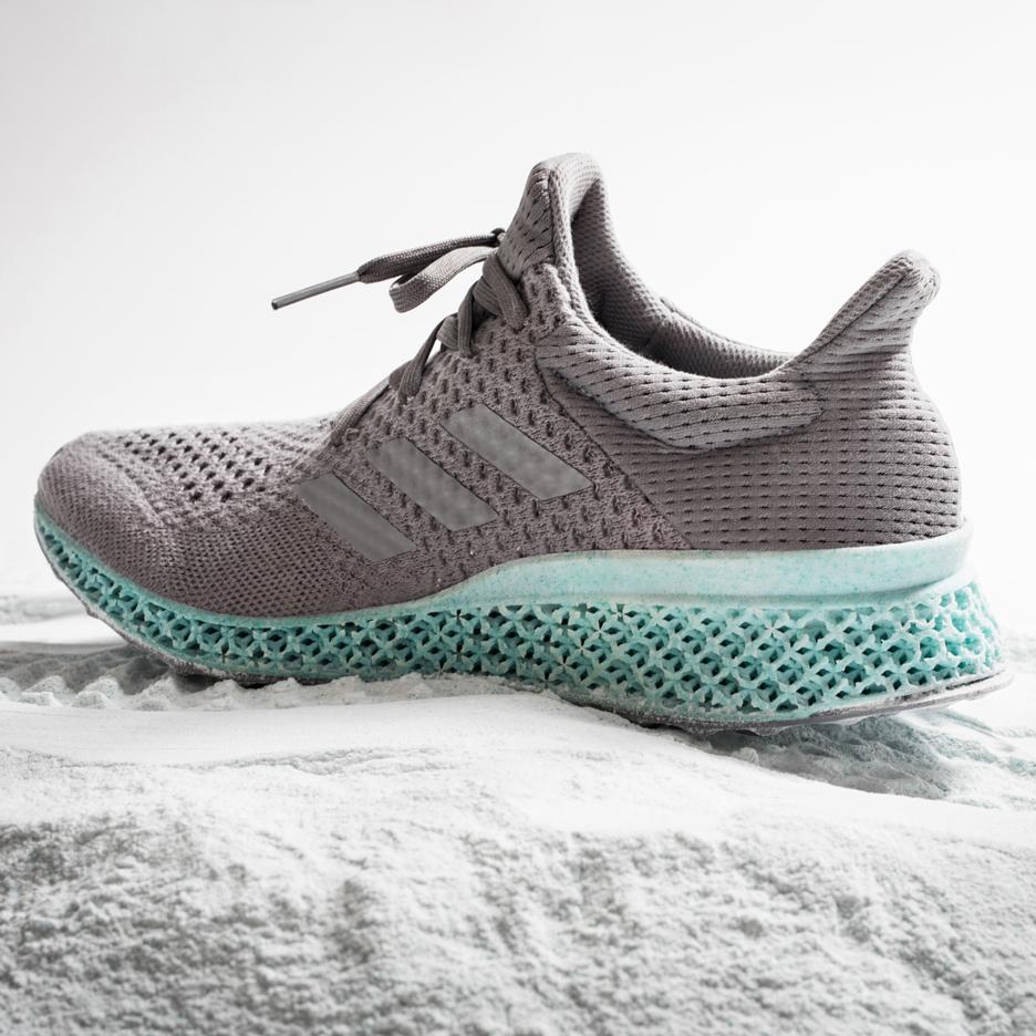 3D-printed Ocean Plastic shoe midsole by Adidas