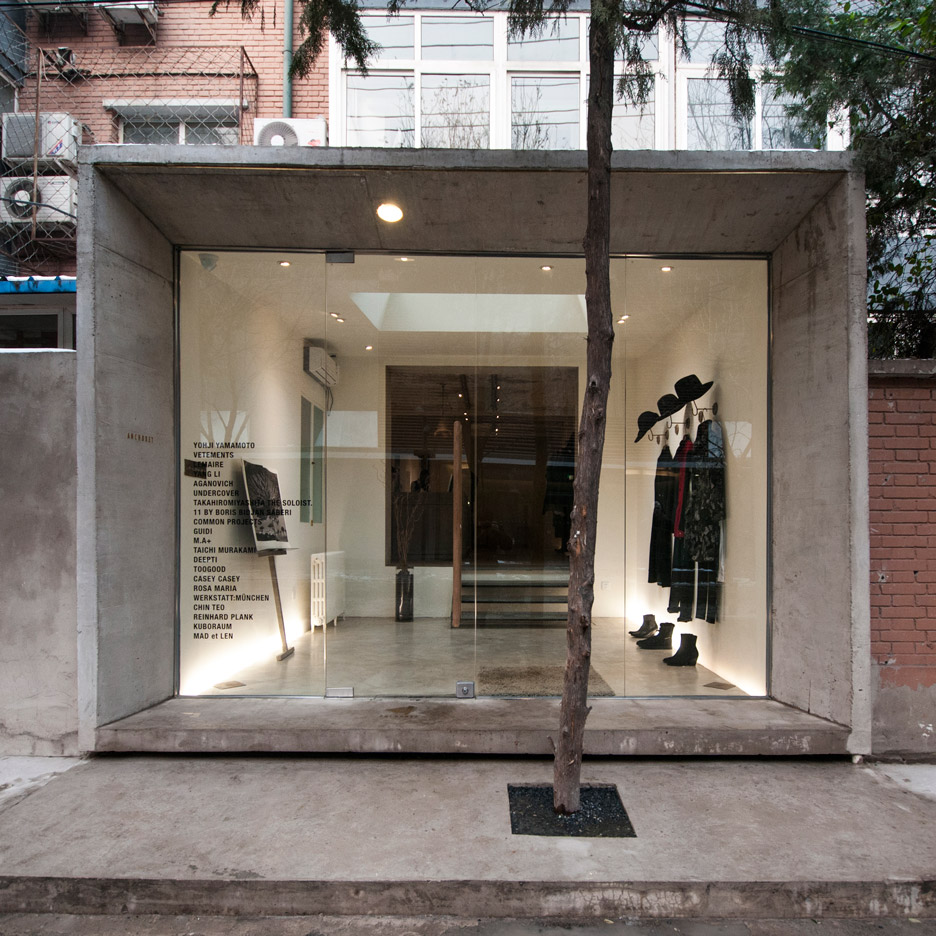 Speys pairs raw concrete with wood and brass at Beijing boutique Anchoret