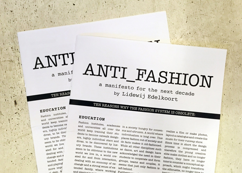 Li Edelkoort's Anti Fashion manifesto