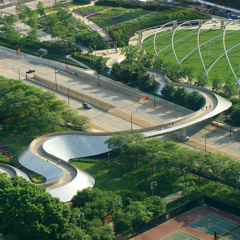 BP Pedestrian bridge by Frank Gehry