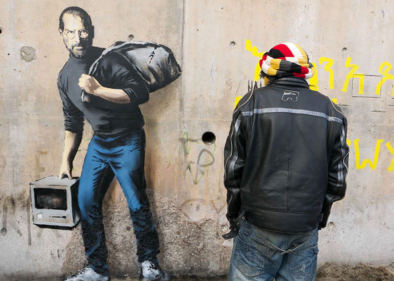 Steve Jobs mural by Banksy