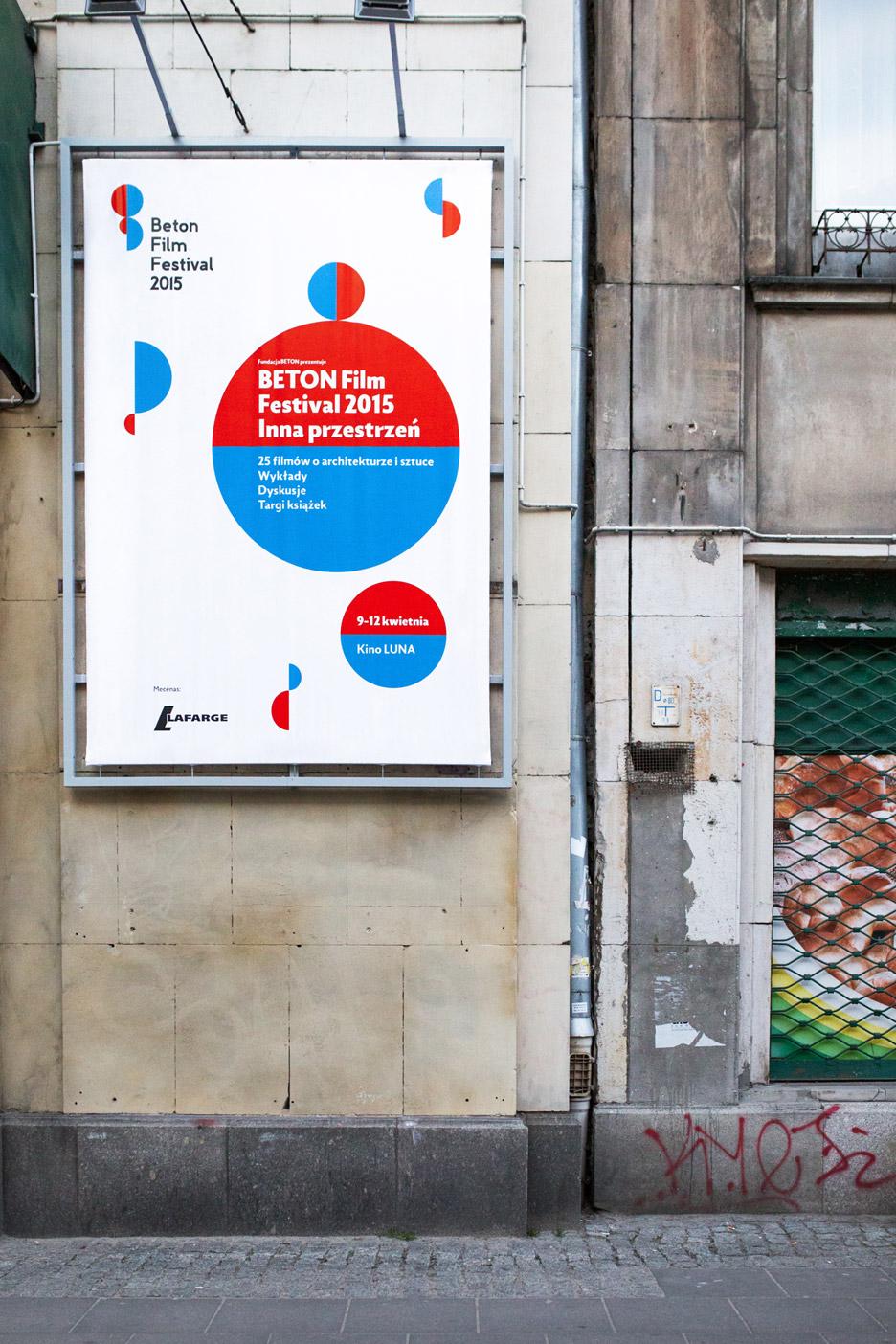 Warsaw's Beton film festival brand identity by UVMW