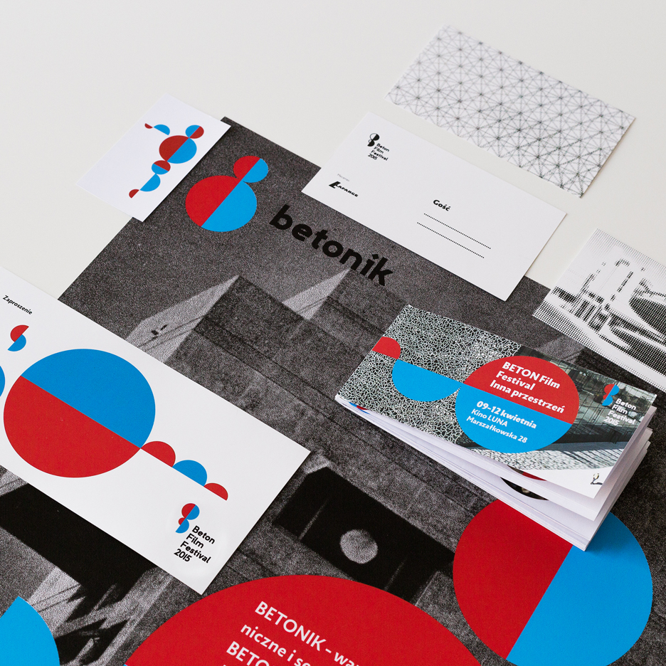 Polish film festival identity references Le Corbusier's Modulor Man