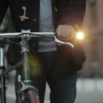Magnetic STiKK bike light slots into the handlebars of a bicycle
