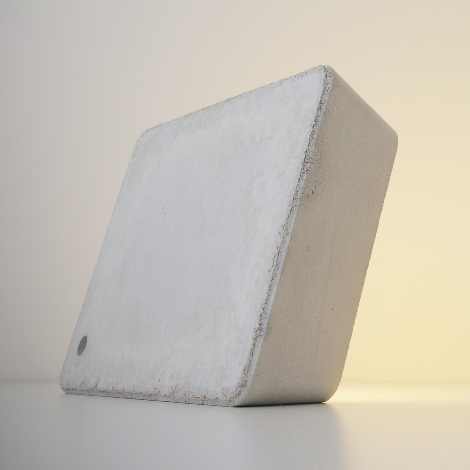 HCWD launches white-concrete version of portable LED Brick lamp