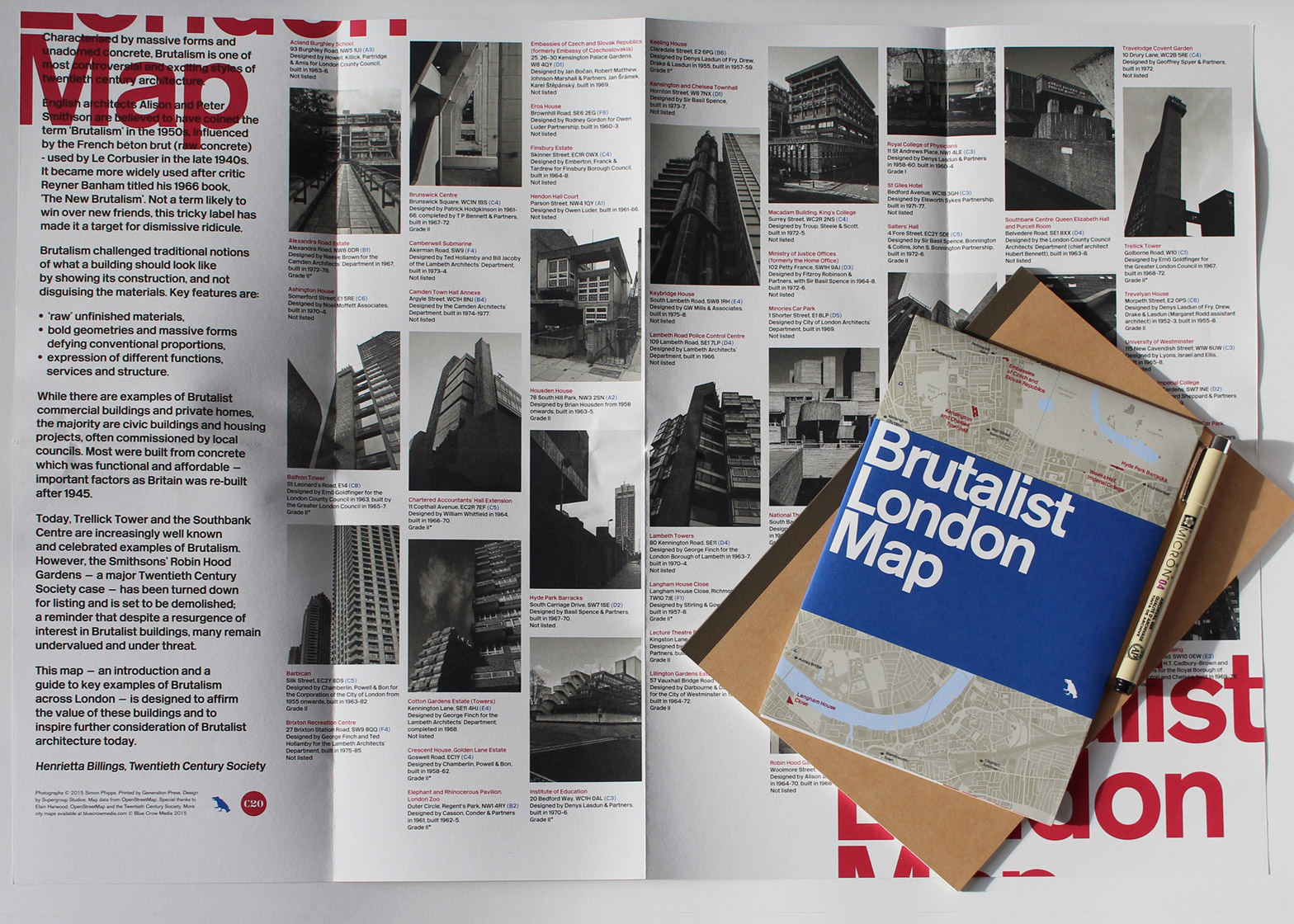 Brutalist London Map Twentieth Century Society