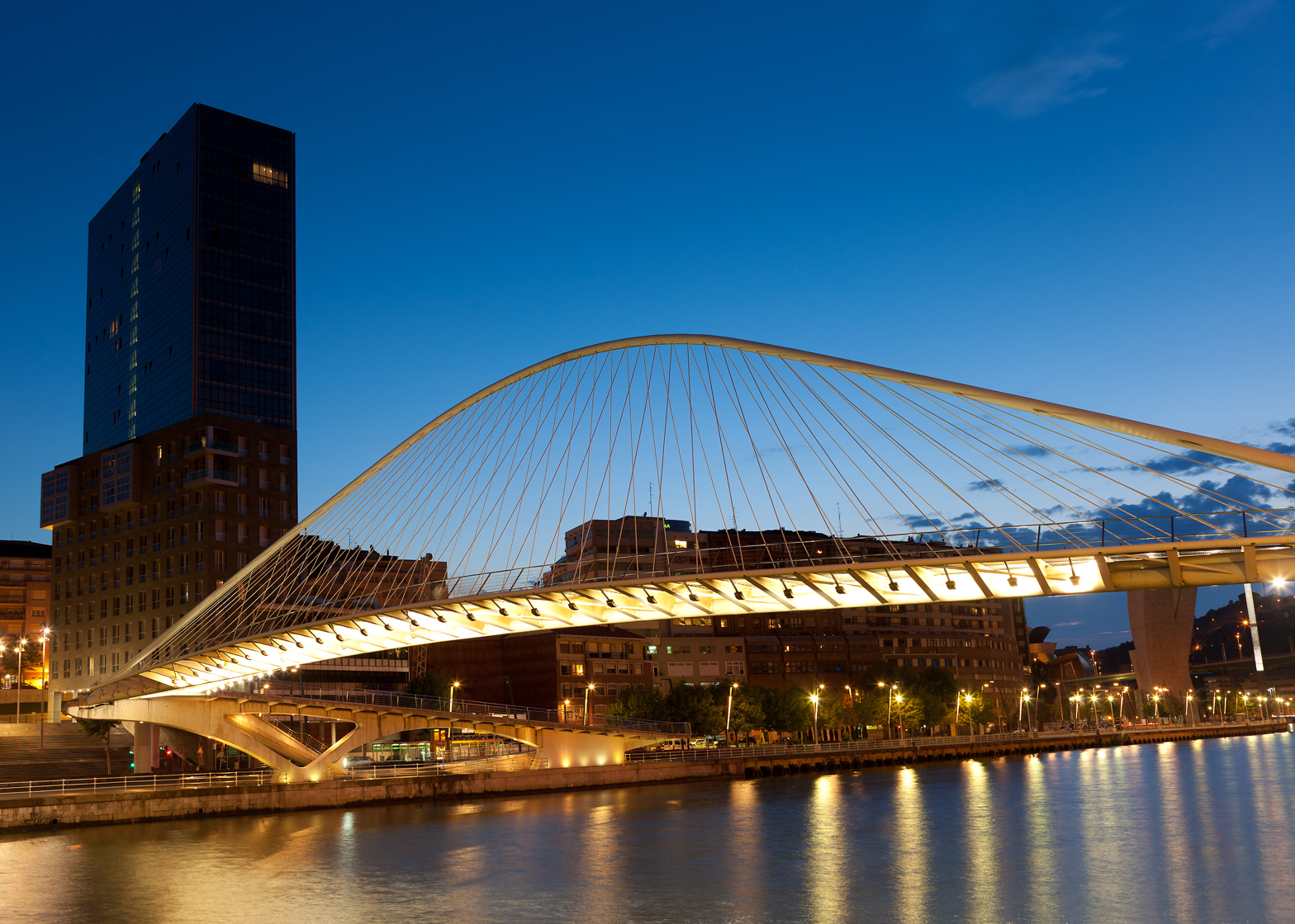 Campo Volantin Footbridge by Santiago Calatrava
