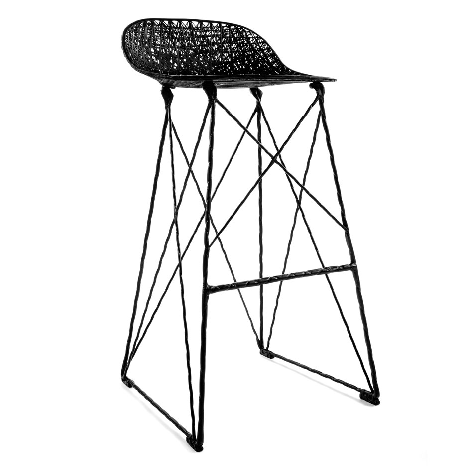 Attractive Carbon Chair Bar Stool By Bertjan Pot And Marcel Wanders For Moooi