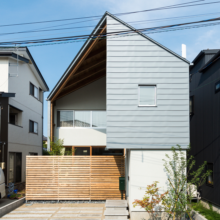 Metal skin wraps the exterior of Niigata residence by Takeru Shoji Architects
