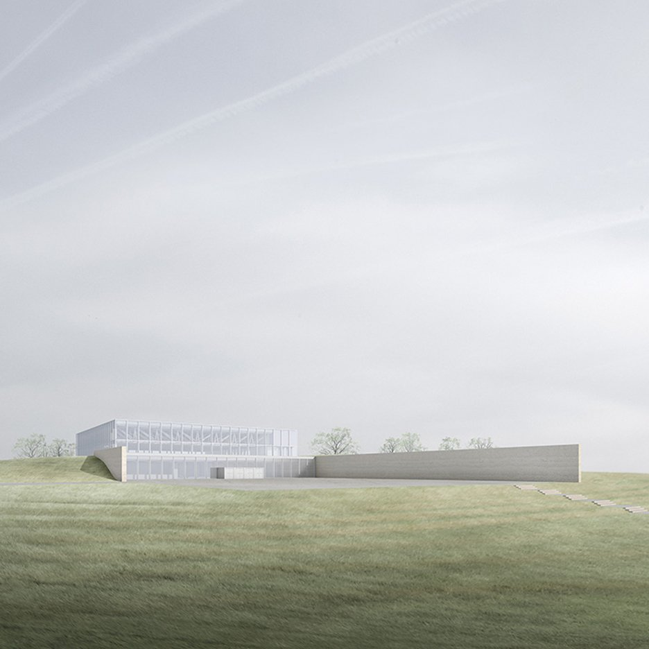 Chipperfield unveils design for partially buried concert hall in Germany