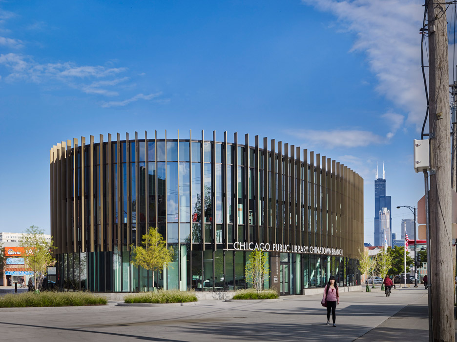 som creates circular library in chicago s chinatown