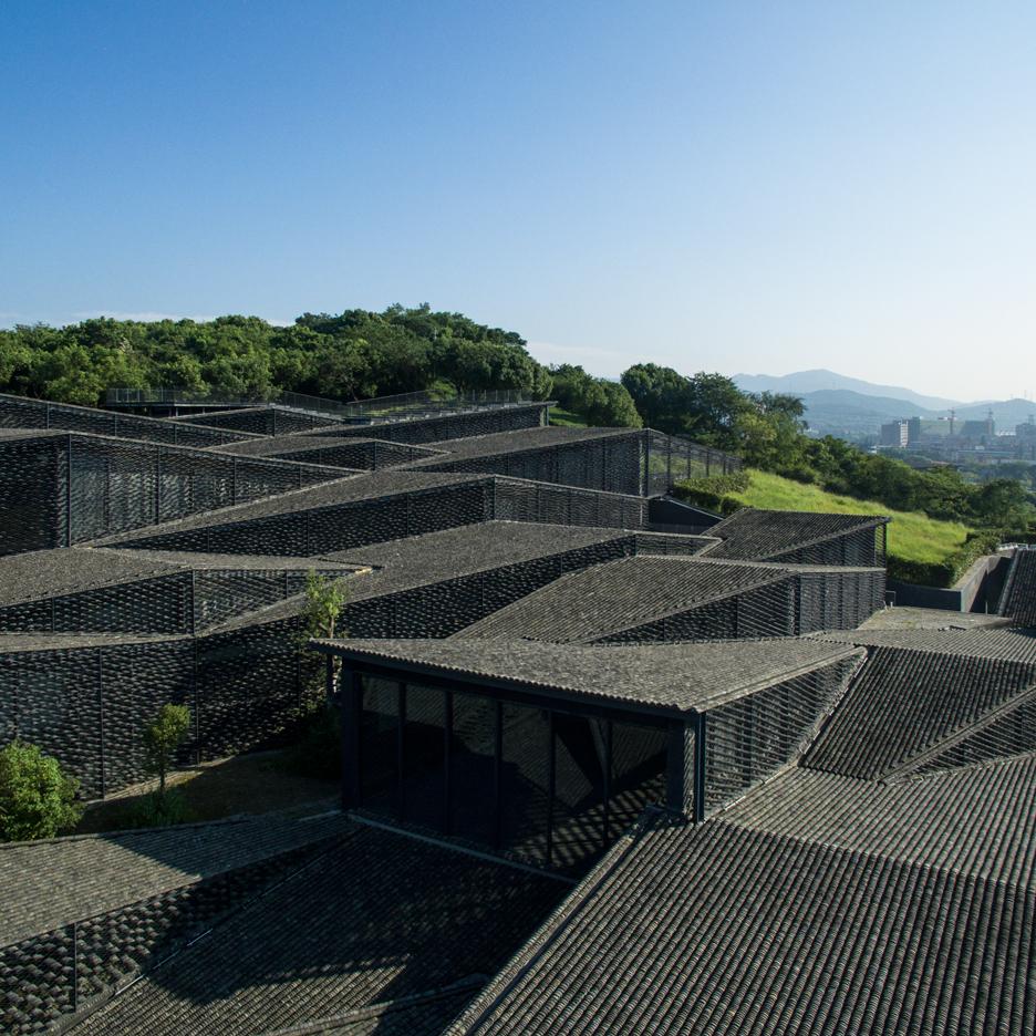 Folk-art galleries at China Academy of Arts by Kengo Kuma