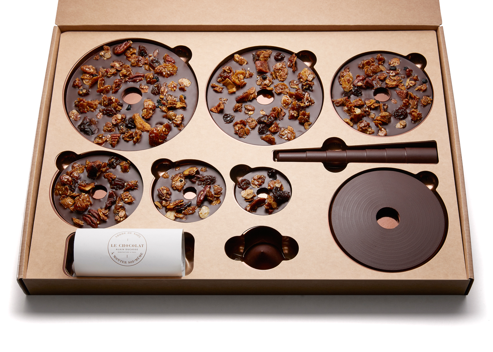 Flatpack chocolate tree by Alain Ducasse