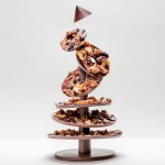 Alain Ducasse's chocolate Christmas tree is assembled like flat-pack furniture
