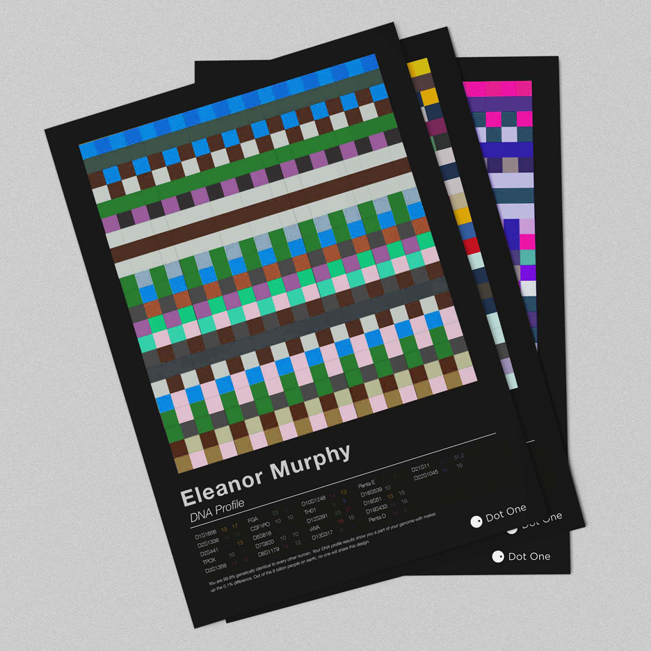 Dot One produces personalised textiles and prints based on DNA data