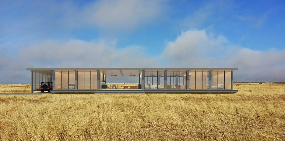 Prefabricated housing by David Salle