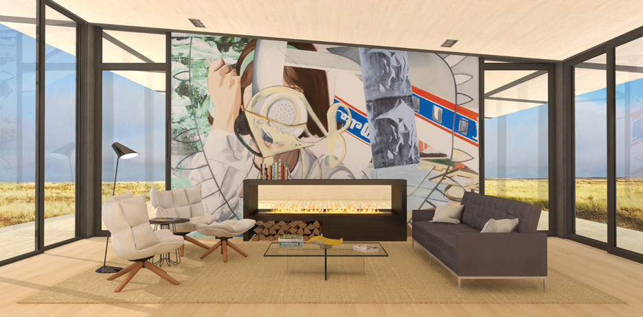 Prefabricated housing by David Salle