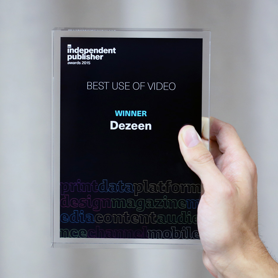 Dezeen Best Use of Video PPA Independent Publisher Awards 2015