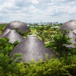 Vo Trong Nghia creates bamboo and thatch domes for Diamond Island Community Centre