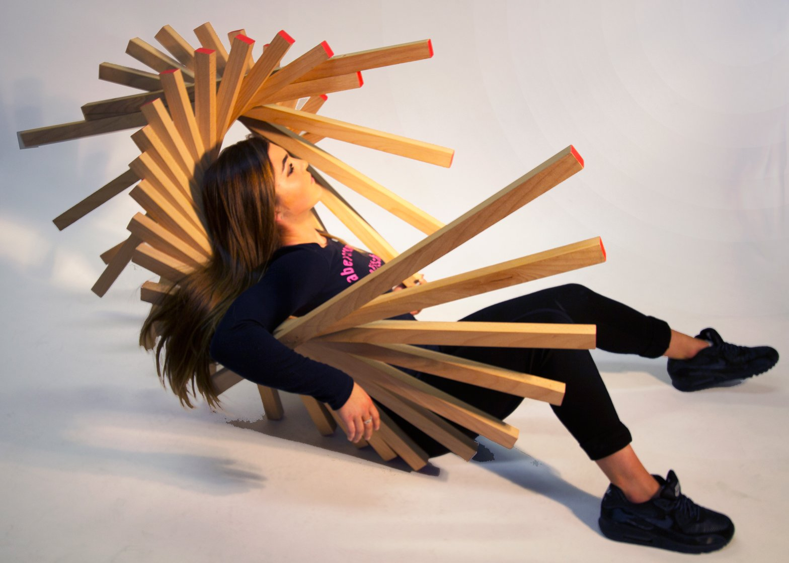 Disposture chair forces sitters into an uncomfortable slump