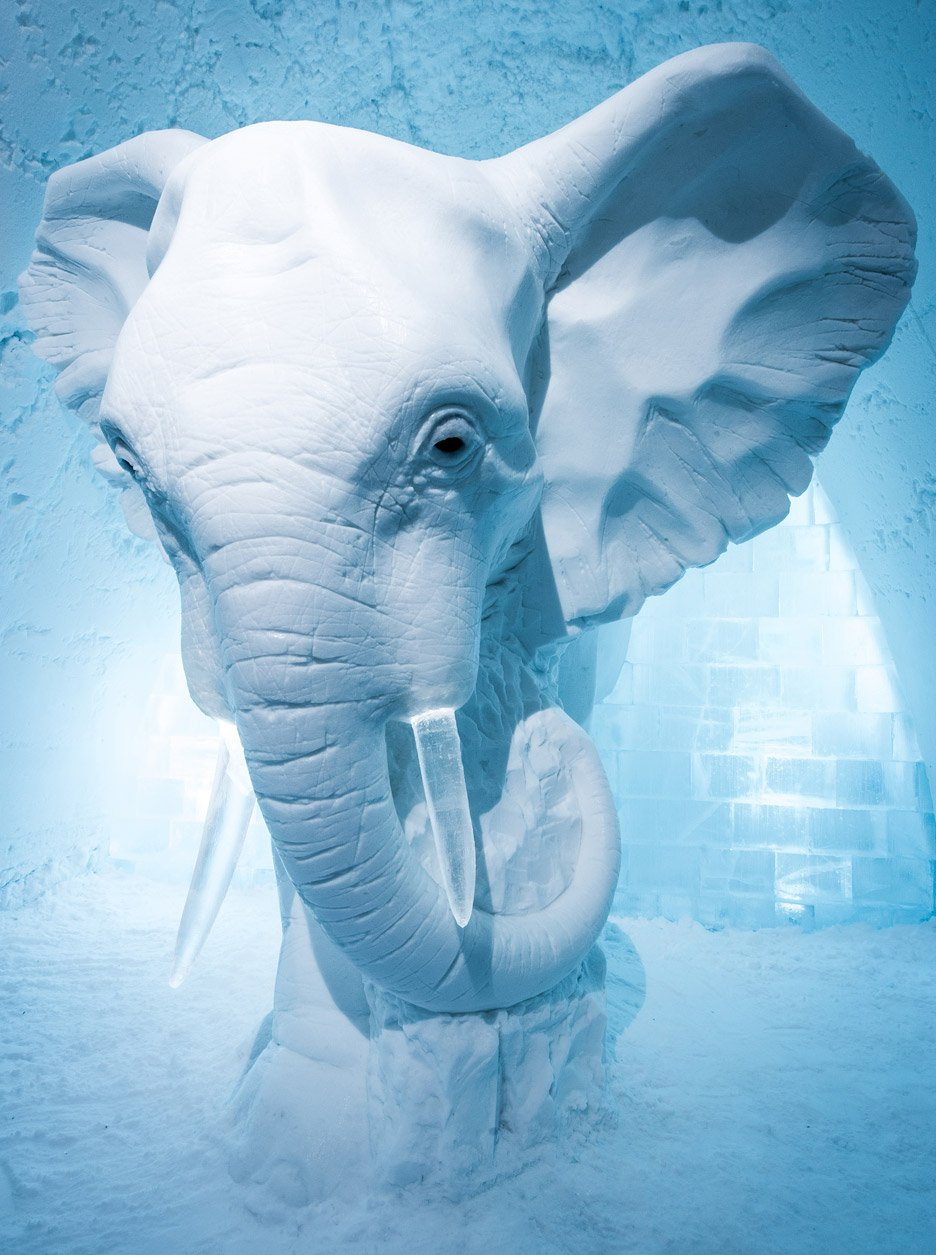 Ice hotel interiors feature