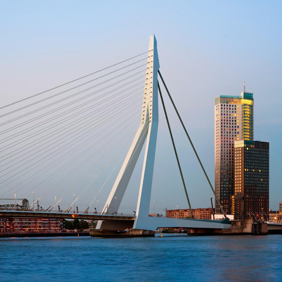 Erasmus Bridge by Ben van Berkel