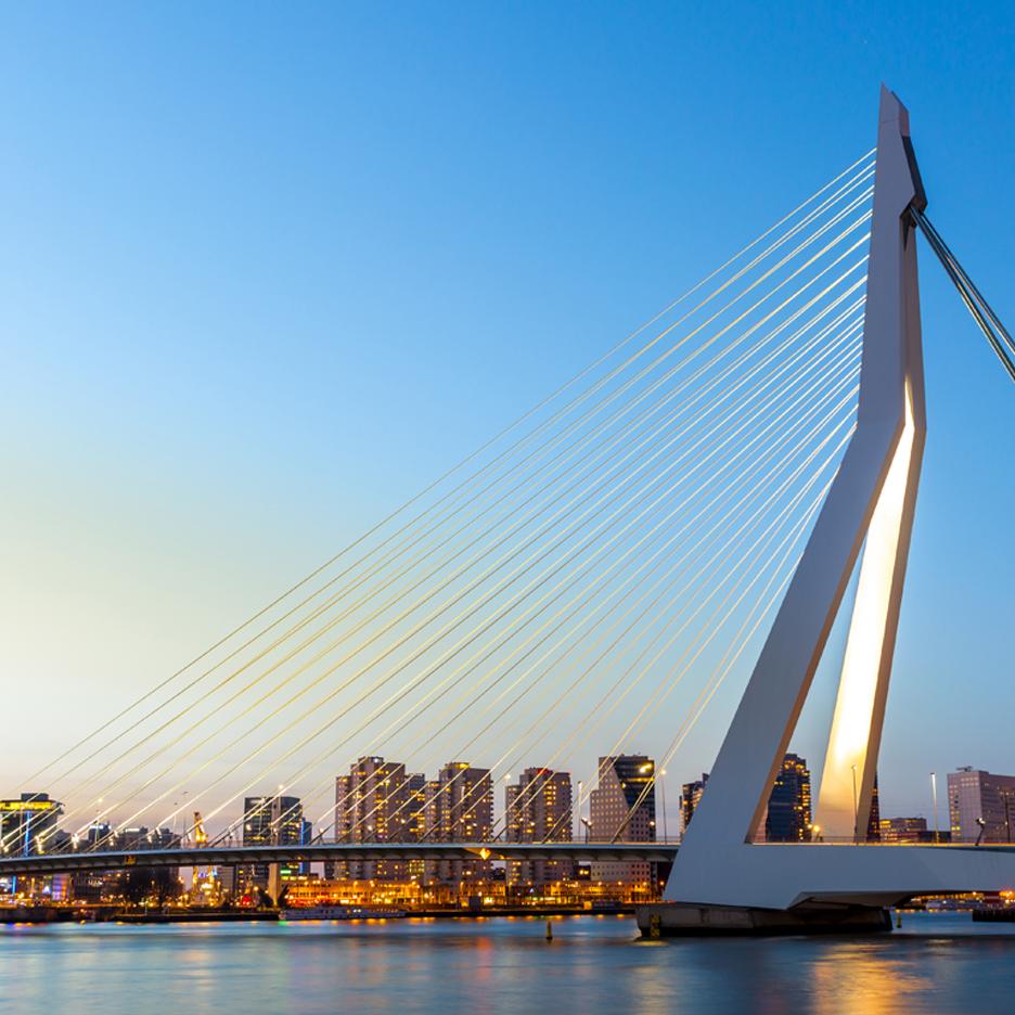 Dezeen's A-Zdvent calendar: Erasmus Bridge by Ben van Berkel