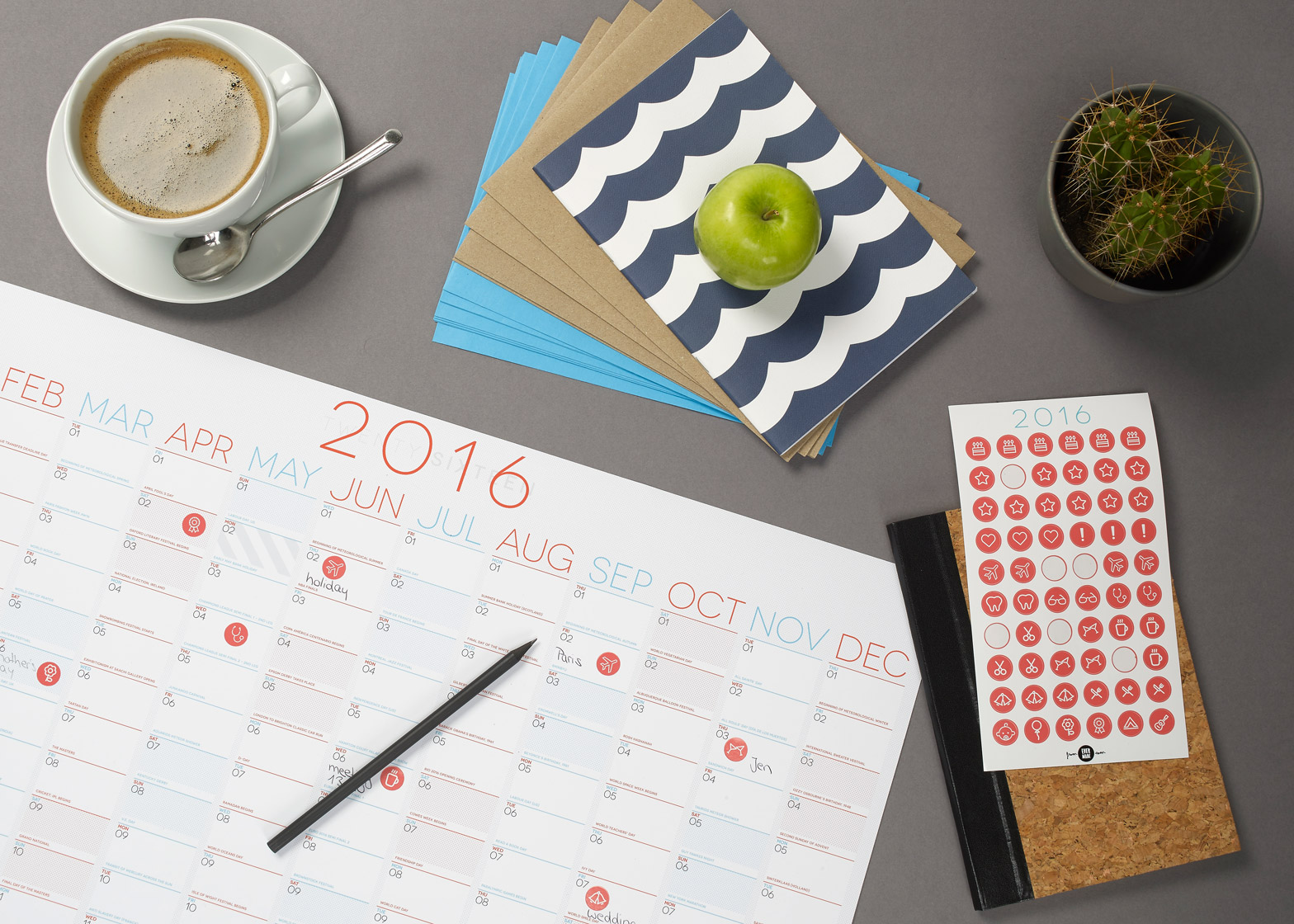 2016 wall planner by Evermade