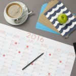 Competiton: five minimal 2016 wall planners by Evermade to be won